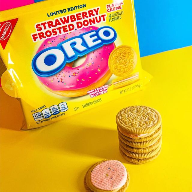nabsico oreo strawberry frosted donut cookies
