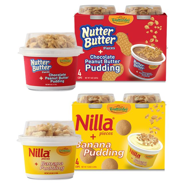 nutter butter cookie and nilla wafer puddings