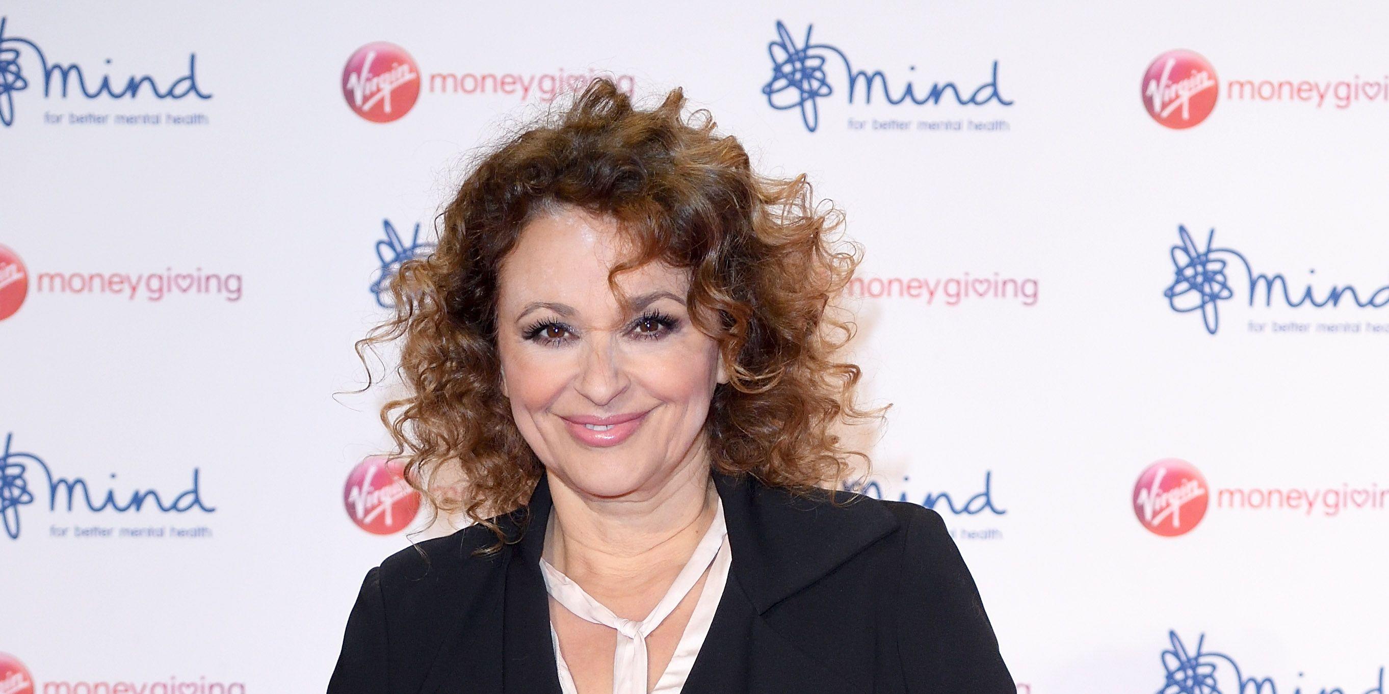 Nadia Sawalha attends the Virgin Money Giving Mind Media Awards