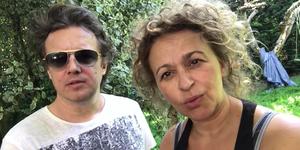 Nadia Sawalha and husband Mark Adderley -garden sos vlog - YouTube video diary