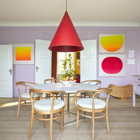 nadia olive schnack's colourful copenhagen home