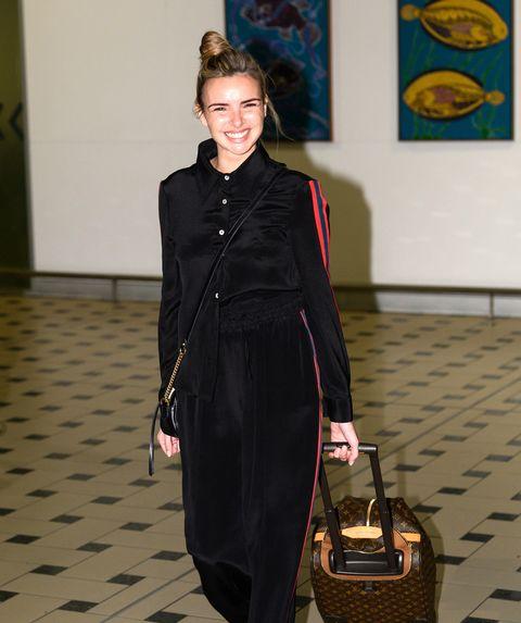 Nadine Coyle, I'm a Celebrity arrivals, Brisbane airport