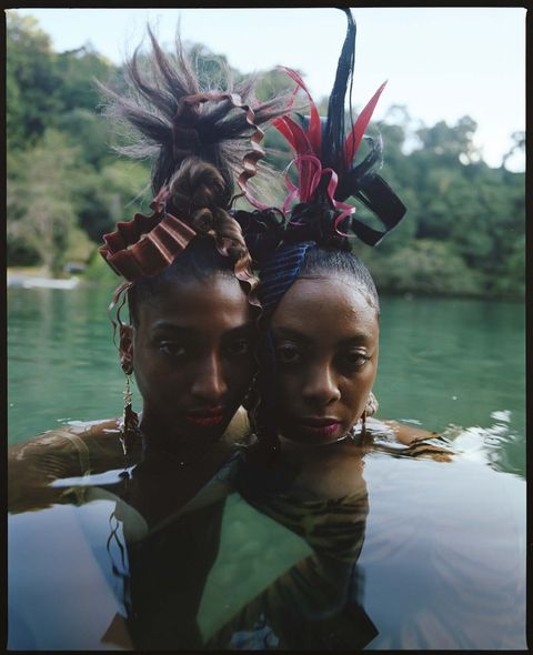 People, Water, Head, Hairstyle, Reflection, Adaptation, Fun, Tribe, Tree, Photography,