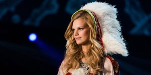 Nadine Leopold on the Victoria's Secret catwalk
