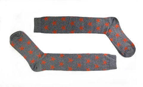 Orange, Fashion accessory, Pattern, Sock, Glove,