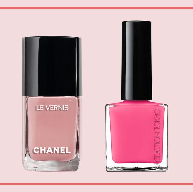 Nail polish, Cosmetics, Nail care, Pink, Product, Beauty, Liquid, Tints and shades, Glass bottle, Gloss,