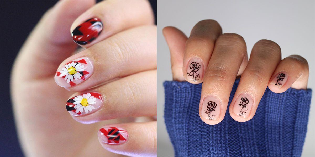 nail art floreali primavera 2018