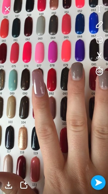 This is how you pick your nail polish colour in a salon