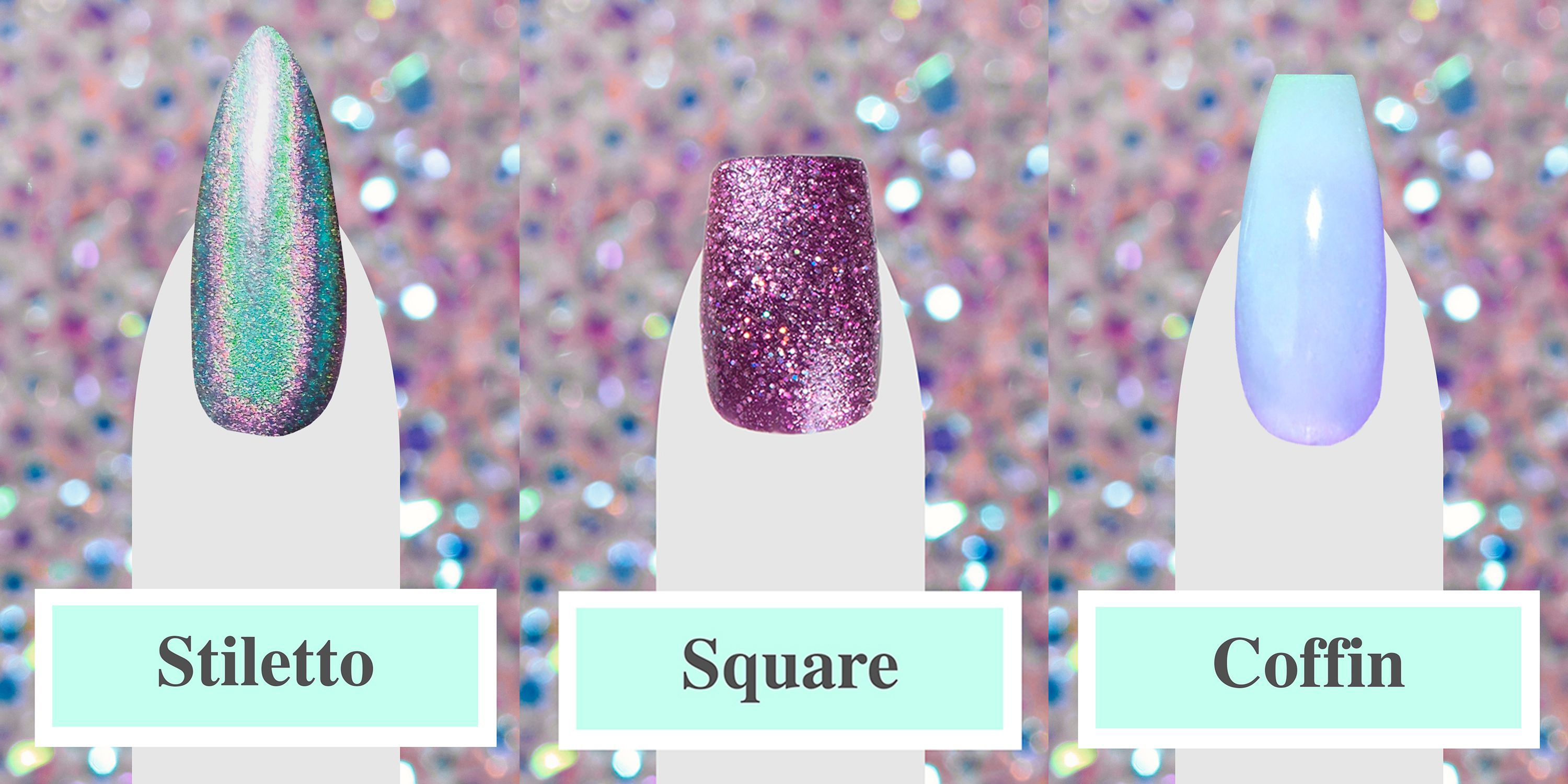 Nail shapes -  From squoval to stiletto