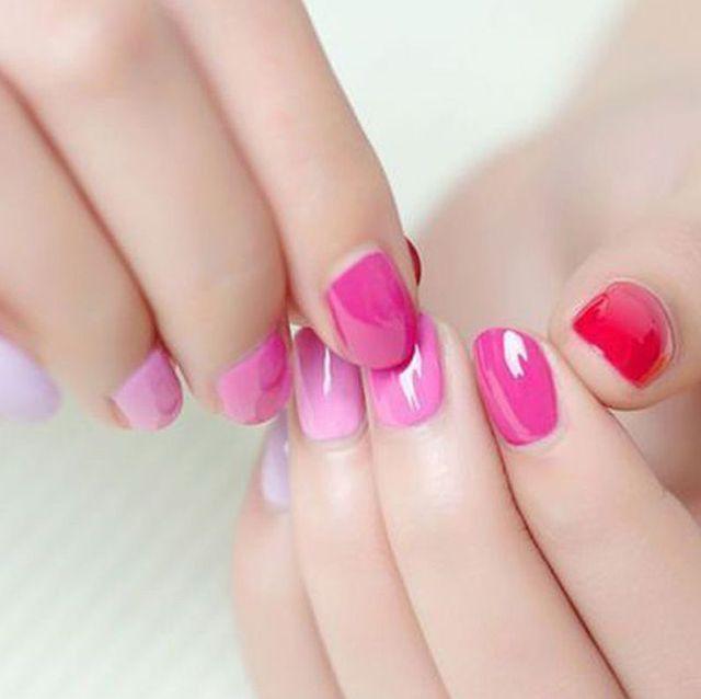 Nail polish, Nail, Manicure, Nail care, Cosmetics, Finger, Pink, Skin, Service, Hand,
