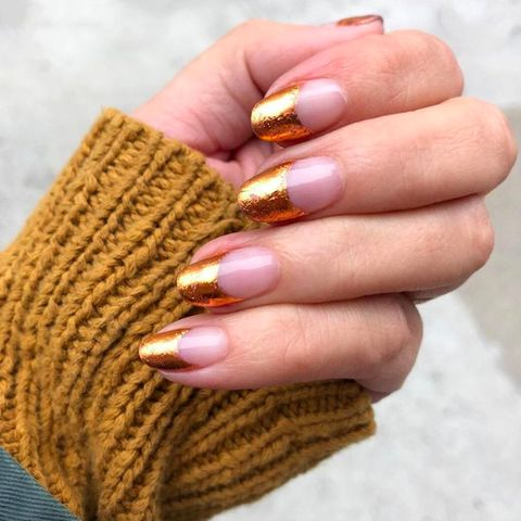 Nail, Finger, Manicure, Nail care, Cosmetics, Nail polish, Hand, Skin, Yellow, Brown,