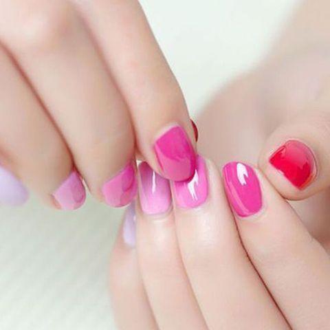 Nail polish, Nail, Nail care, Manicure, Pink, Finger, Cosmetics, Skin, Beauty, Hand,