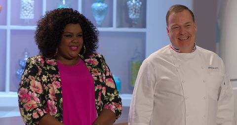 Nicole Byer and Jacques Torres on Nailed It