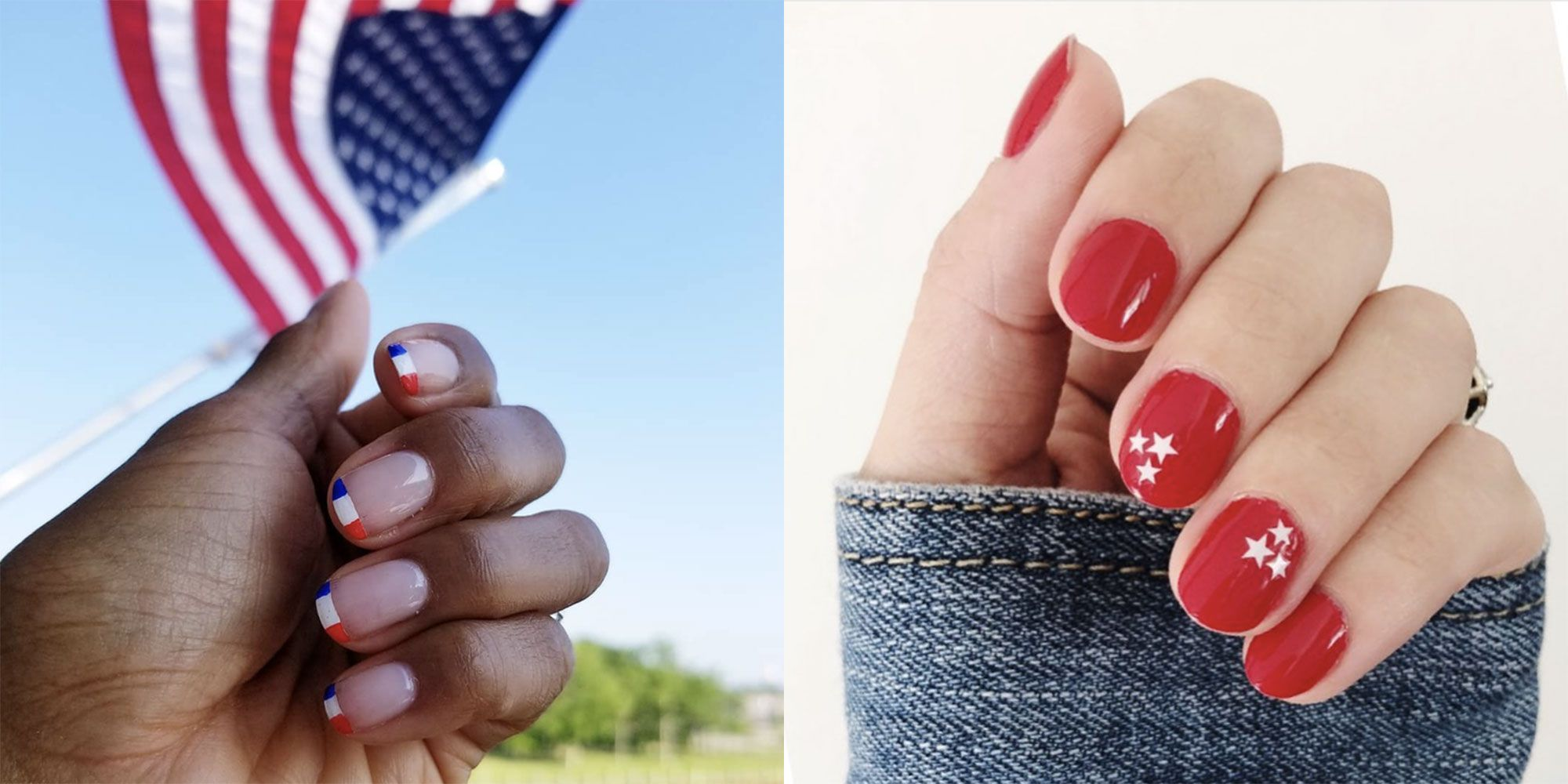20 Fourth of July Nail Ideas - Red, White and Blue Designs