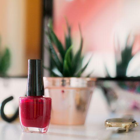 nail varnish bottle  at home