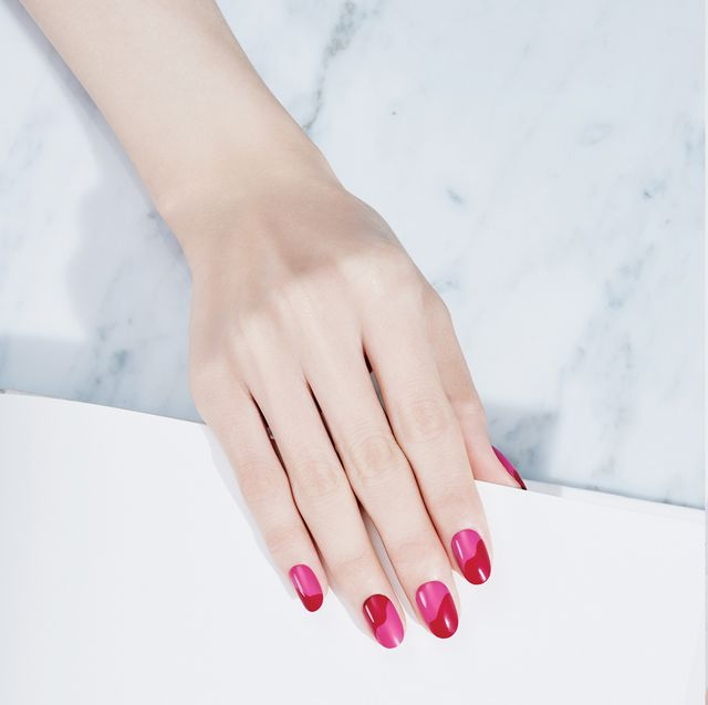 Nail, Finger, Manicure, Hand, Pink, Nail care, Nail polish, Skin, Material property, Cosmetics,