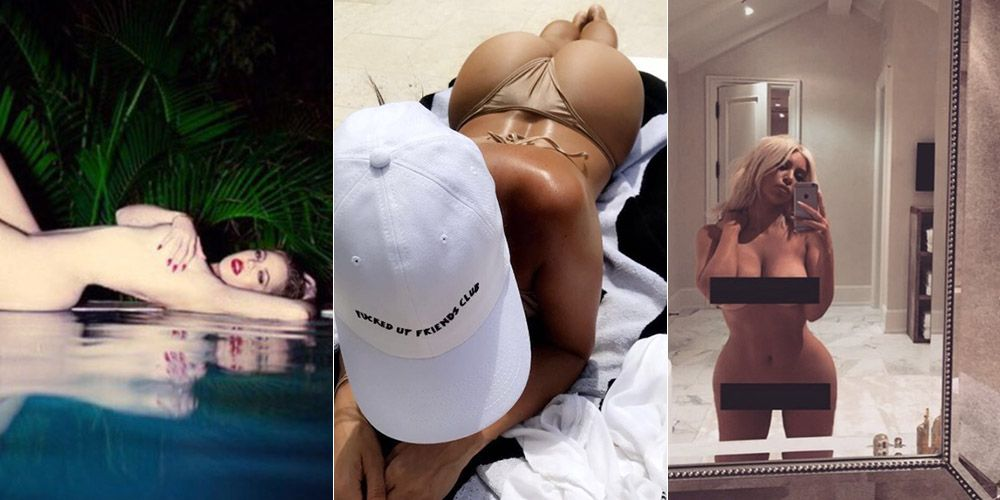 The Kardashians' most naked Instagram photos