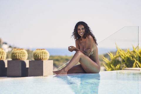 Rochelle Humes Naked Shoot Women's Health
