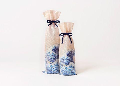 浮世繪手工藝的「泡泡紙」也太奢華!以後過節送酒一定要這樣包!