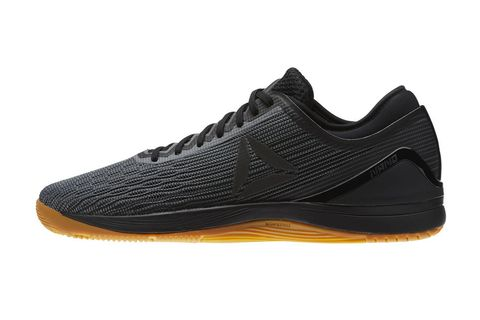 Shoe, Footwear, Outdoor shoe, Black, White, Running shoe, Walking shoe, Sneakers, Orange, Yellow,