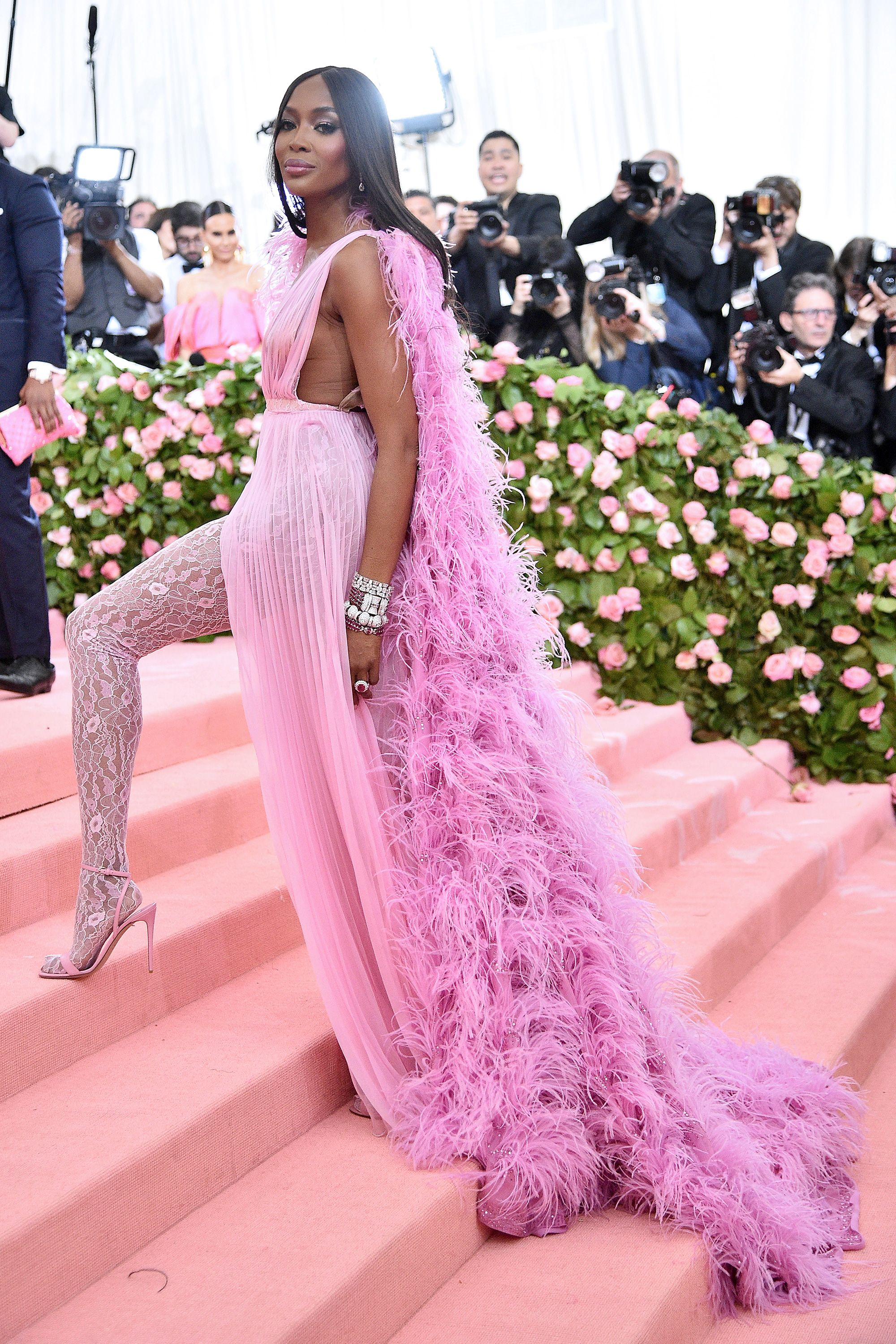 40d72faed2d Naomi Campbell brought a human wind machine to the Met Gala