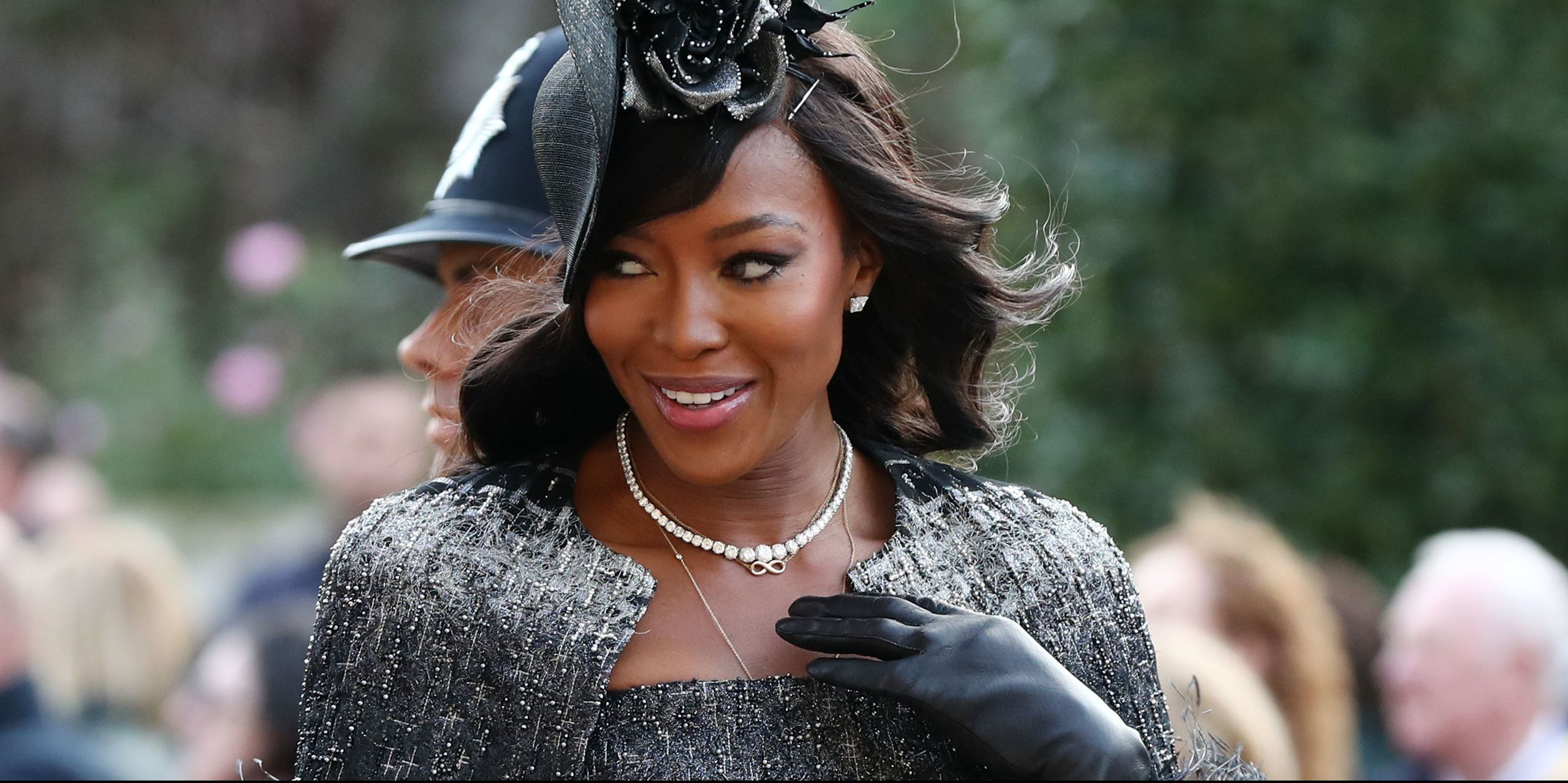 Naomi Campbell Has the Tallest, Fanciest Hat at Princess Eugenie's Wedding