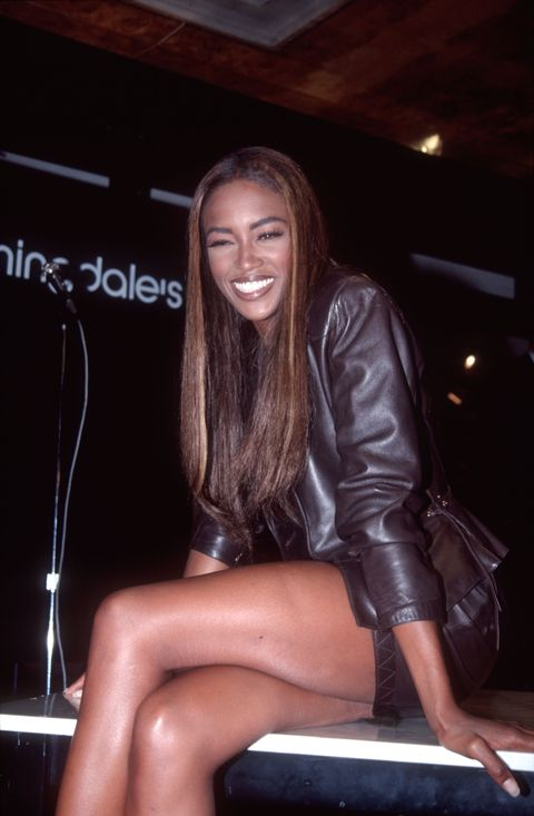 naomi campbell at bloomingdale's, 1991