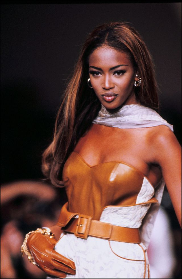 france   october 21  dior ready to wear spring summer 92 show in france on october 21, 1991   naomie campbell  photo by pool arnalgarciagamma rapho via getty images