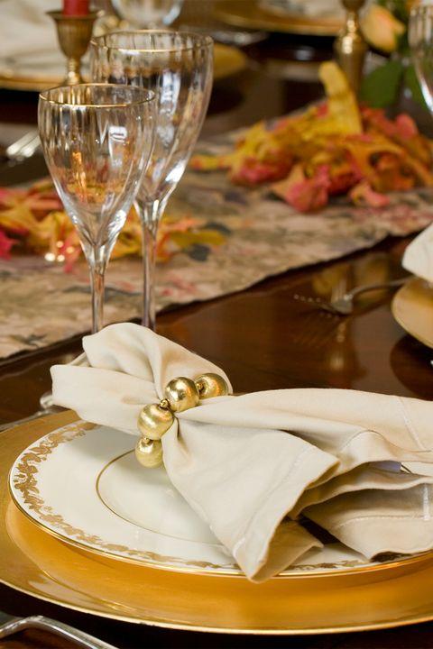 gold napkin rings