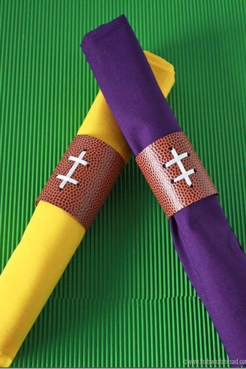 Football Napkin Rings Decorations