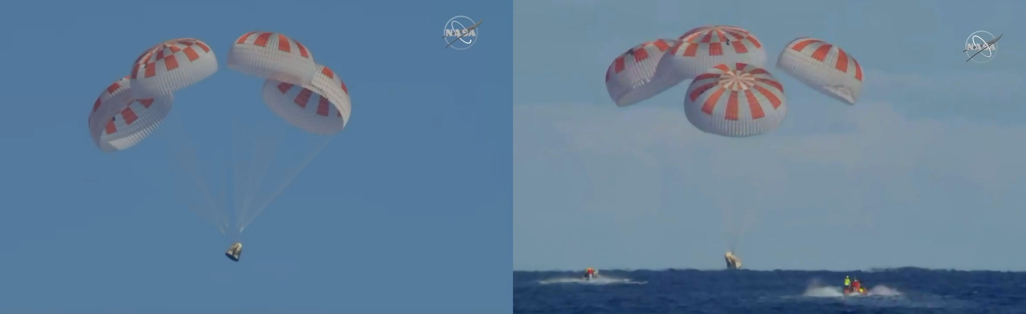 SpaceX Dragon Capsule Splashdown and Recovery