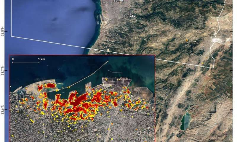 Satellite Images Reveal Beirut Explosion's Devastation