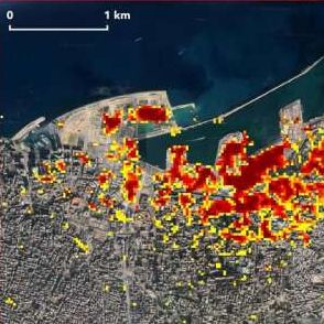 nasa maps the damage caused by the aug 4 explosion in beirut