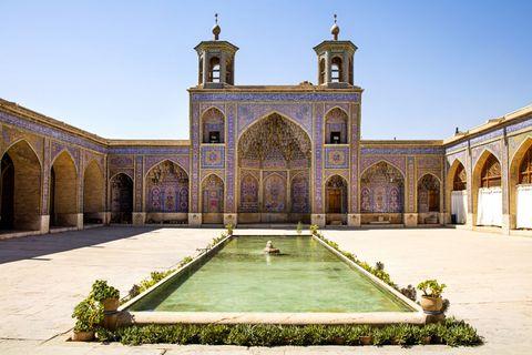 Innenhof, Nasir al Molk-Moschee, Shiraz, Iran