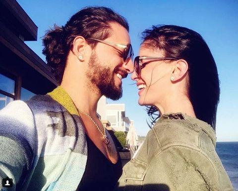 Love, Sky, Eyewear, Cool, Interaction, Kiss, Forehead, Friendship, Selfie, Facial hair,