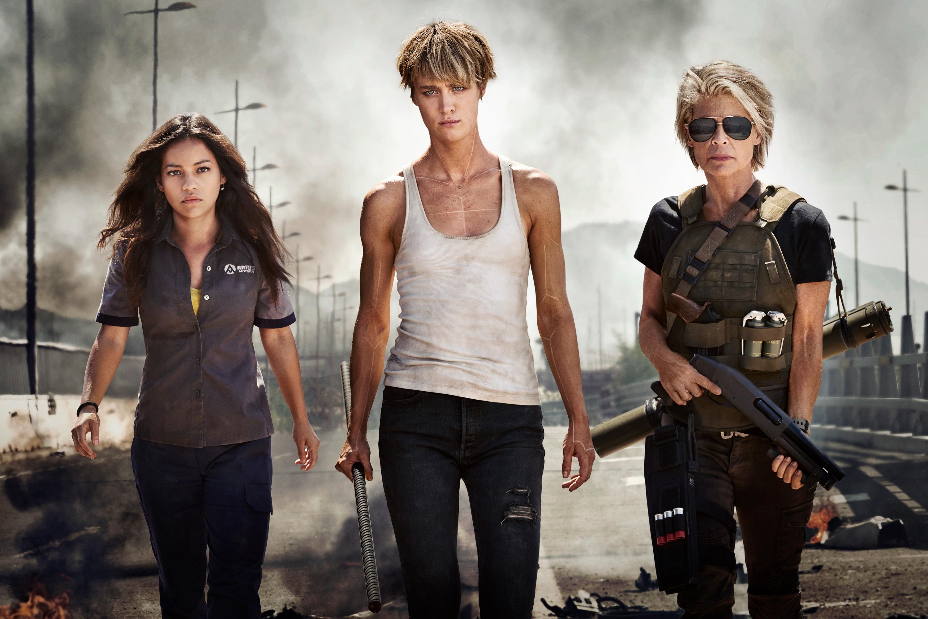 Female actors/characters in Terminator Dark Fate