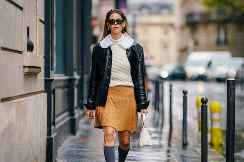 Street Style At Paris Fashion Week - Womenswear Spring Summer 2021 : Day Eight