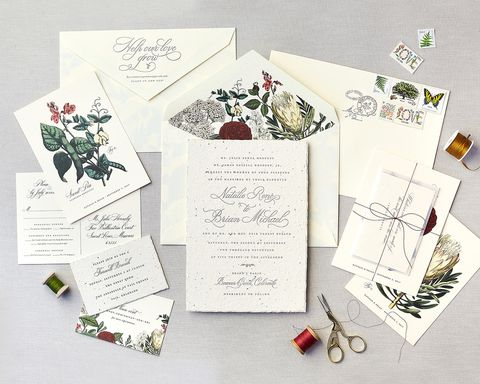 cheree berry paper seed paper wedding invitation