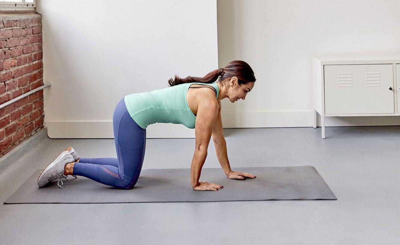 Natalie Jill Knee Plank Walk-Outs