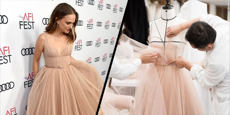Natalie Portman wearing Dior couture - the making of