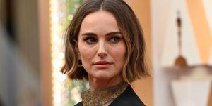 Natalie Portman in haar custom Dior-jurk op de rode loper bij de Oscars 2020
