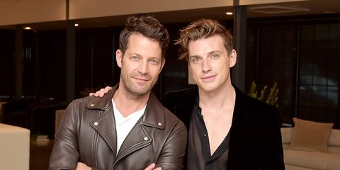 nate berkus  jeremiah brent celebrate the launch of their upholstery collection with living spaces in los angeles