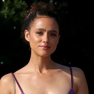 venice, italy   september 06  nathalie emmanuel is seen arriving at the excelsior during the 77th venice film festival on september 06, 2020 in venice, italy photo by franco origliagetty images