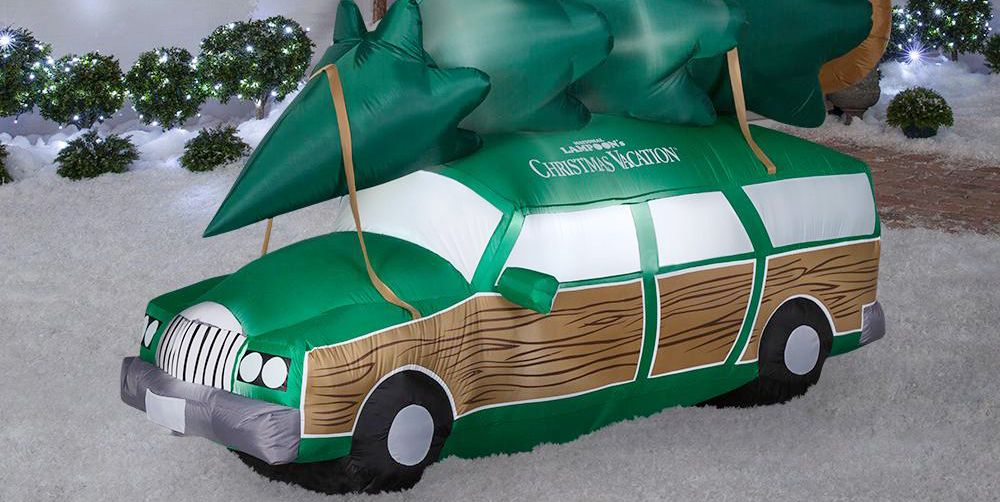 national lampoon's christmas vacation station wagon inflatable decoration
