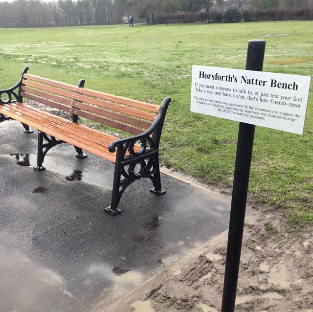 """""""natter bench"""" installed in leeds to help beat loneliness during the pandemic"""