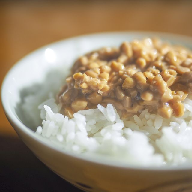 nattofermented soybeans rice