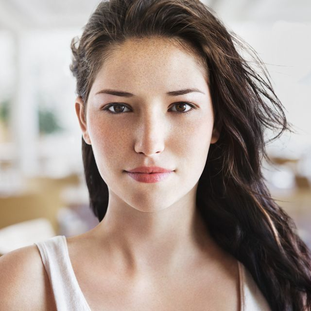 Natural beauty portrait of young woman