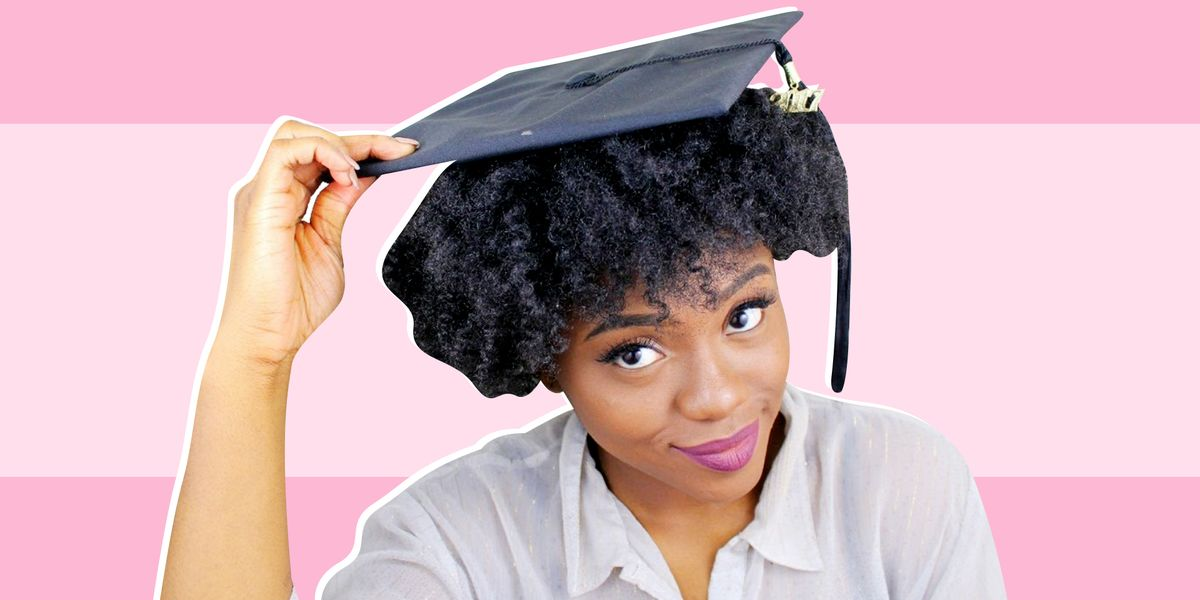 How To Wear A Graduation Cap With Natural Hair