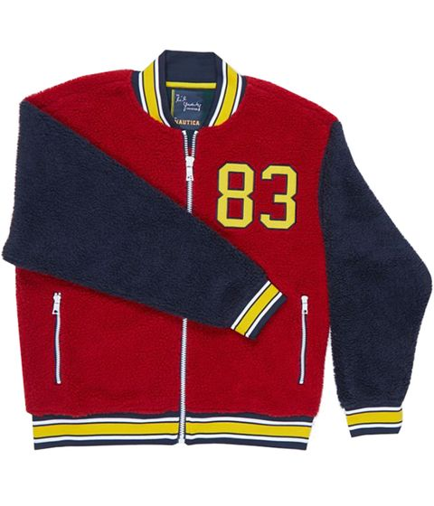 Clothing, Sleeve, Outerwear, Sports uniform, Jersey, Jacket, Collar, Textile, Polar fleece, T-shirt,