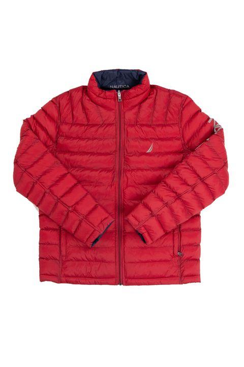 Clothing, Jacket, Outerwear, Red, Sleeve, Hood, Zipper, Sweater, Top,